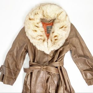 Jackets & Blazers - Vintage 100% Genuine Leather Coat